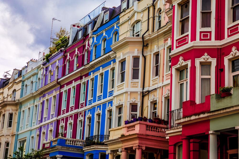 Le quartier de Notting Hill à Londres