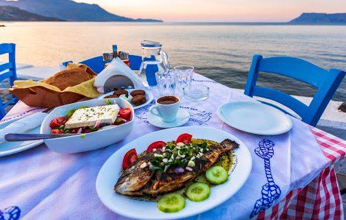 Séjour gastronomique : Dorade et Salade grecque dans les îles