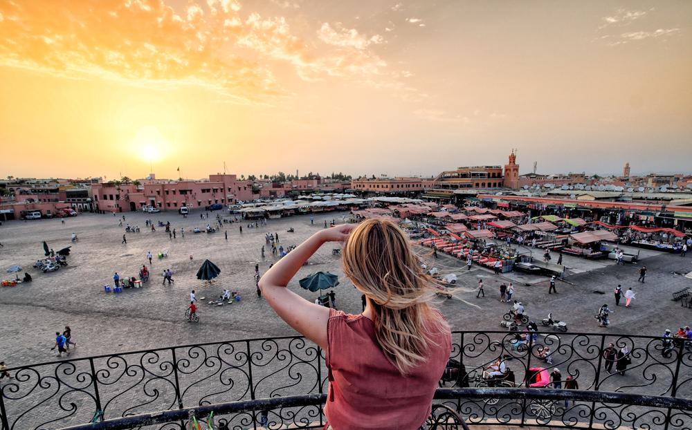 Place Jemaa el-Fna, Marrakech, Maroc