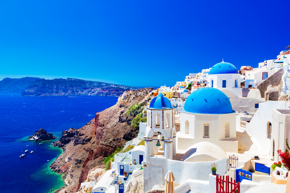 Santorin, archipel des Cyclades, Grèce