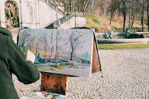 Séjour culturel à Viennes - peinture