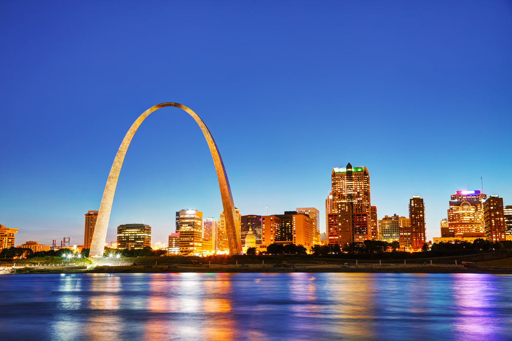 Le GateWay Arch, Saint Louis, Missouri