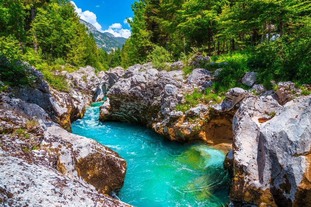 La rivière Socha- Slovénie