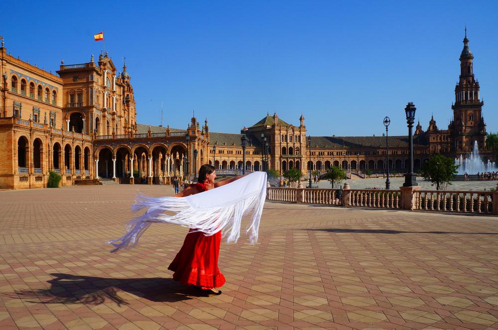 Danseuse de Flamenco à Séville en Espagne