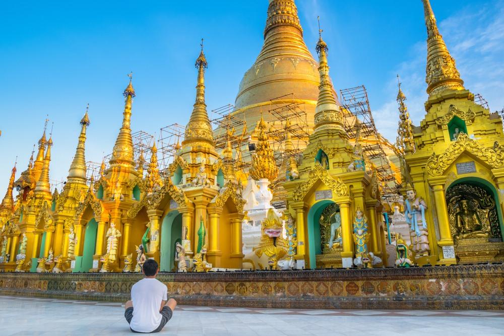 La pagode Shwedagon (Yangon, Birmanie)