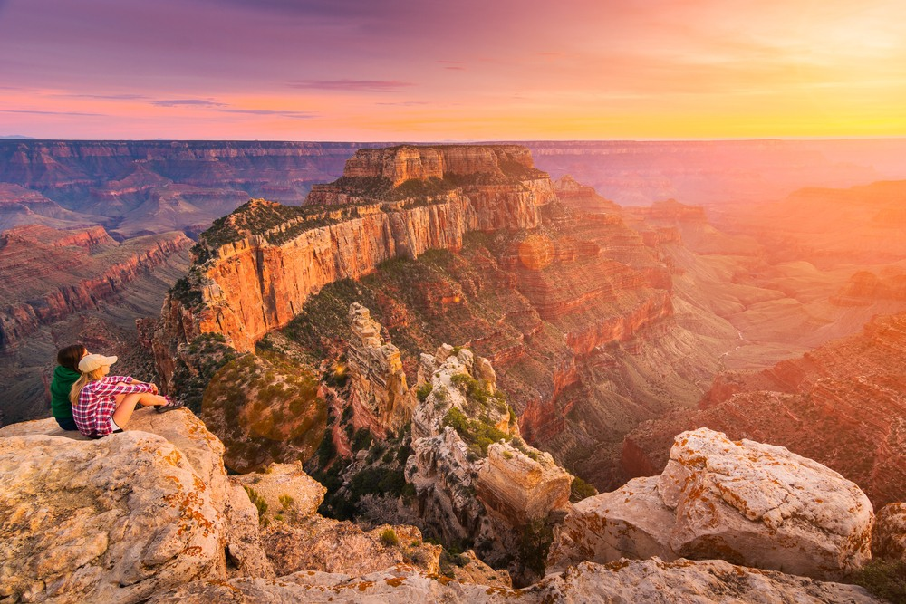 Coucher de soleil au Grand Canyon, Etats-Unis