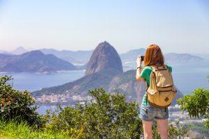 Jeune femme à Rio de Janeiro