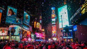 Soirée du réveillon à Time Square
