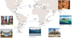 Itinéraire Tour du Monde Costa 2021