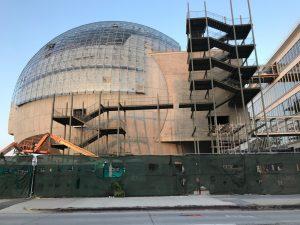 The Academy Museum of Motion Pictures en construction à L.A.