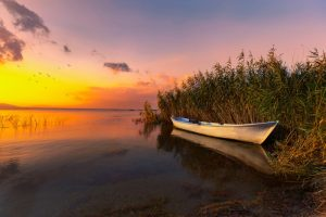 Coucher de soleil au lac Tanganyika
