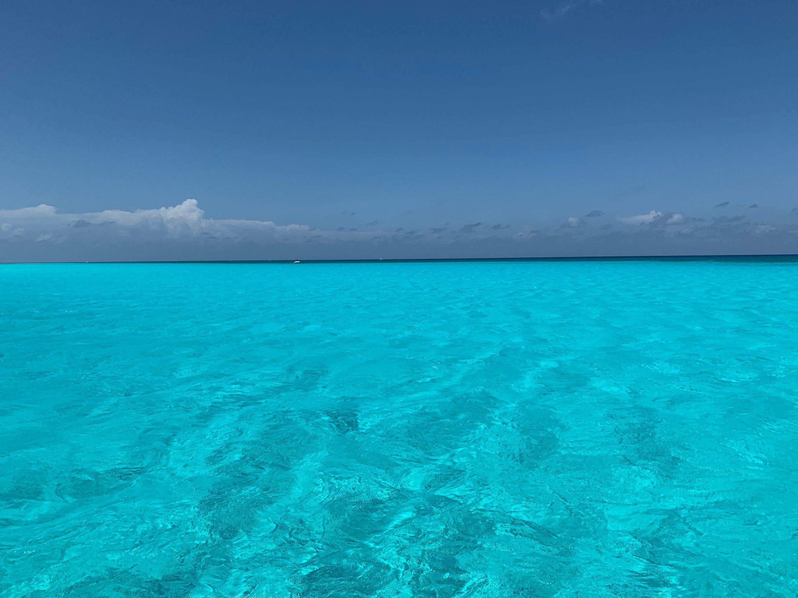 L'eau turquoise de Cancun, Mexique